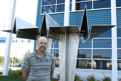 New Sculpture Installed at EMS Building