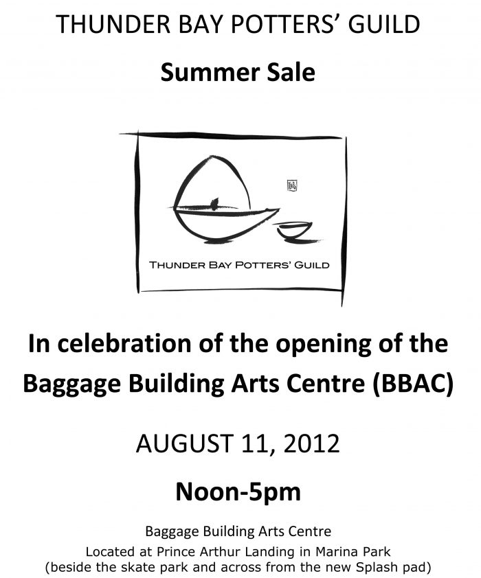 Thunder Bay Potters' Guild Summer Sale