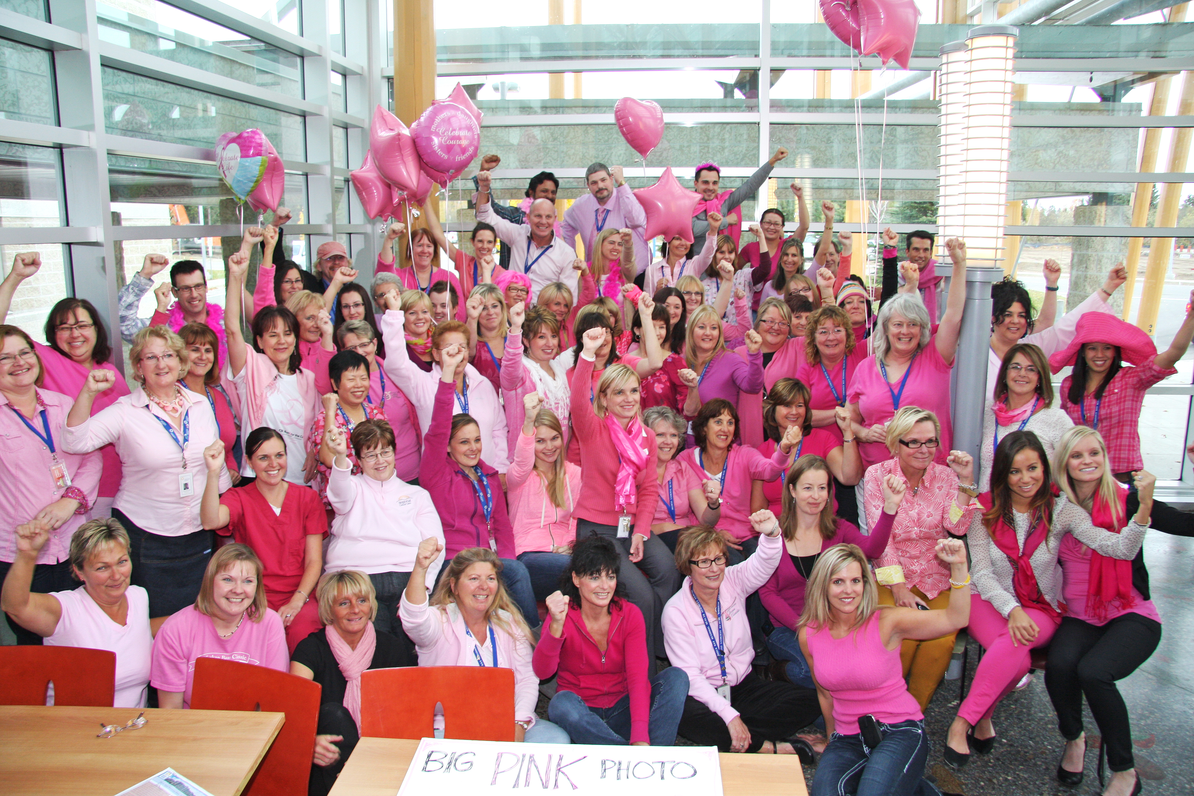 Pink Day Group Photo The Walleye