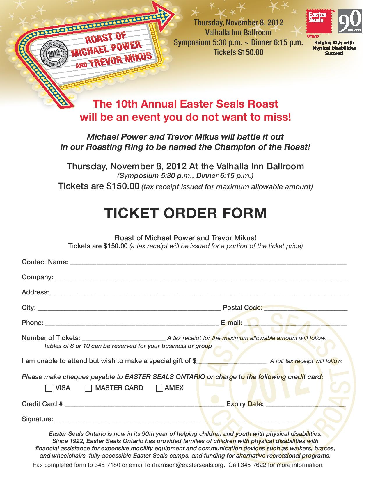 20 sales order templates free sample example format movie ticket – Ticket Order Form Template