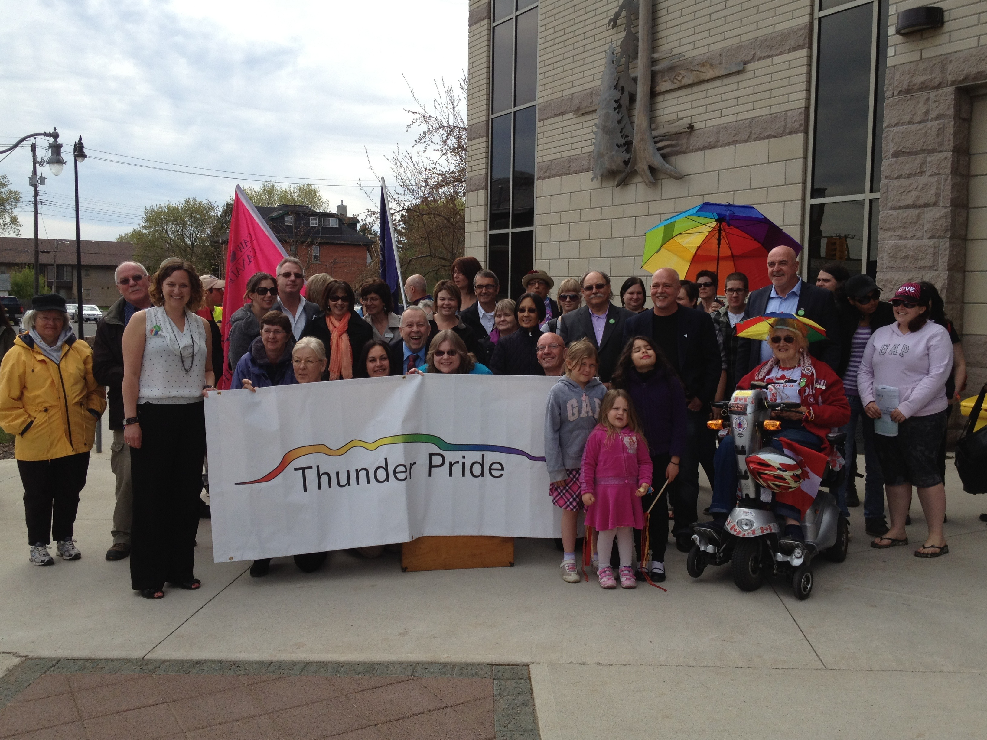 A Proud Start Flag-Raising Ceremony Kicks Off Thunder Pride 2013