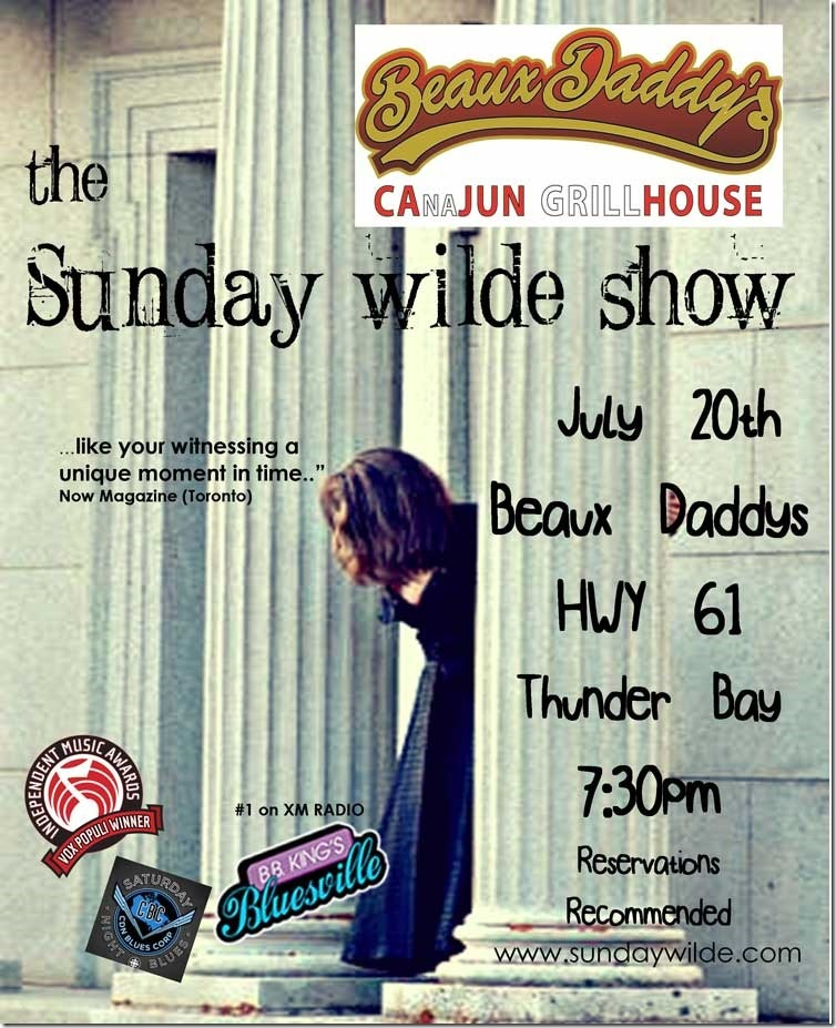 Sunday Wilde at Beaux Daddy's July 20th