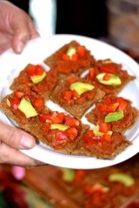 Buckwheat tomato pizza