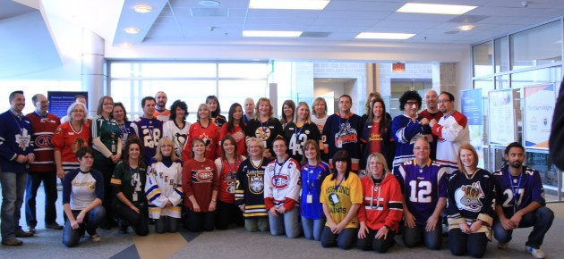 TBRHSC Staff Wear Jerseys to Promote Physical Activity