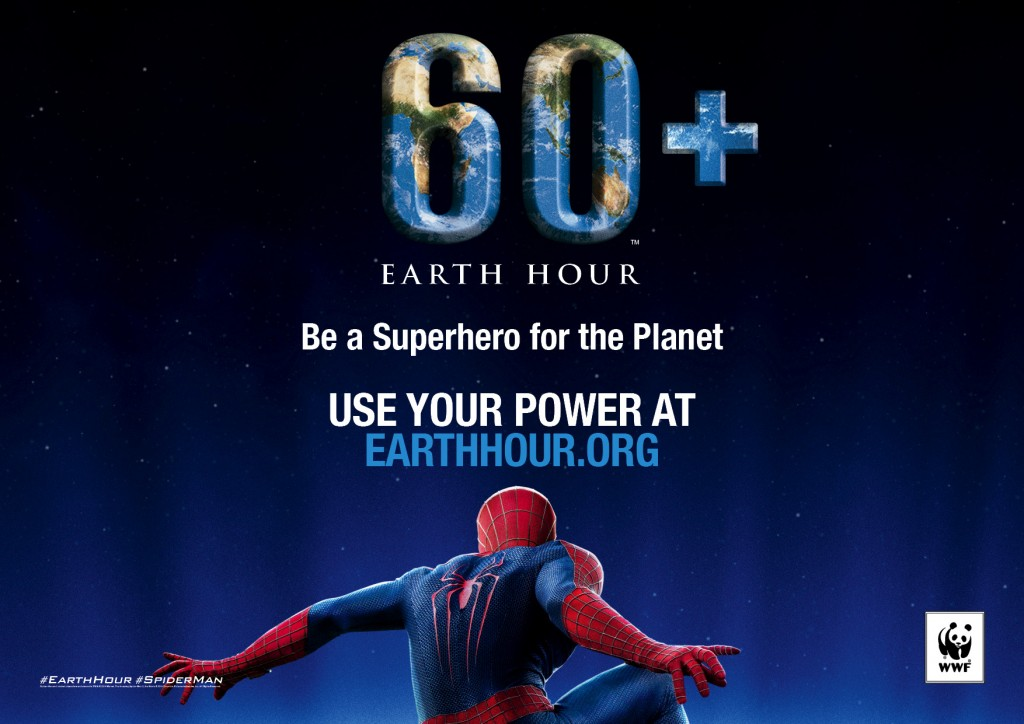 Earth Hour 2014 Superhero Ambassador Spider-Man