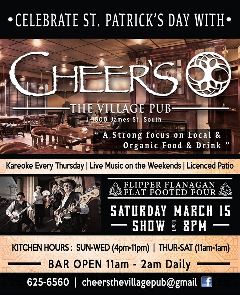 cheers march 15