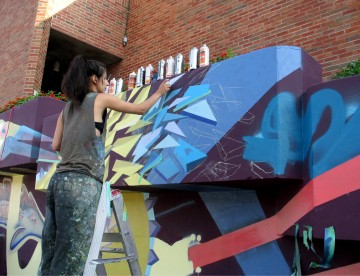 Waverley Gets Fresh! New Die Active street art mural, set to transform the face of Waverley Library