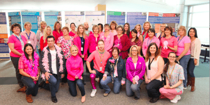 Pretty inPink: Hospital Staff Show Support for Women's Health
