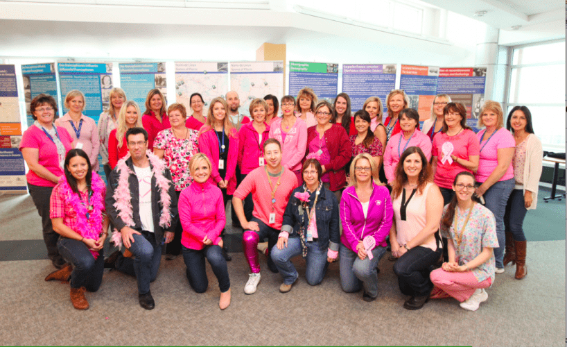 Pretty in Pink: Hospital Staff Show Support for Women's Health