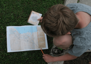 Beckham studying the map
