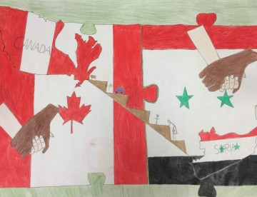 Students Respond to the Syrian Refugee Crisis Through Art