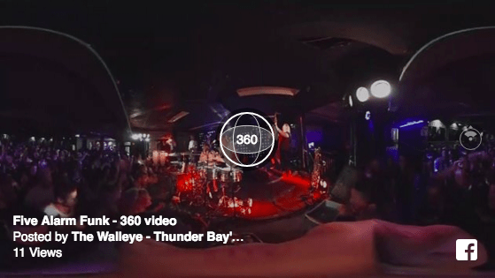 WalleyeTV 360: Five Alarm Funk in Virtual Reality