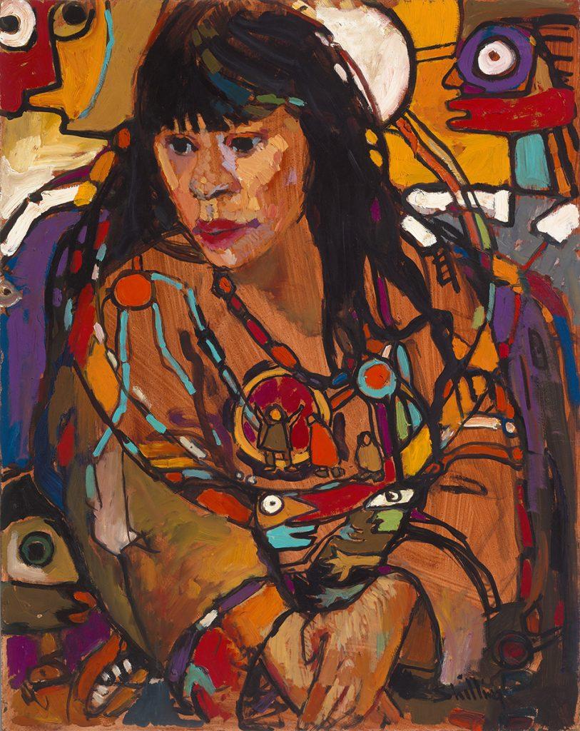 Ojibway Dreams (Suzanne), 1984, oil on board, 88.9 x 71.1cm