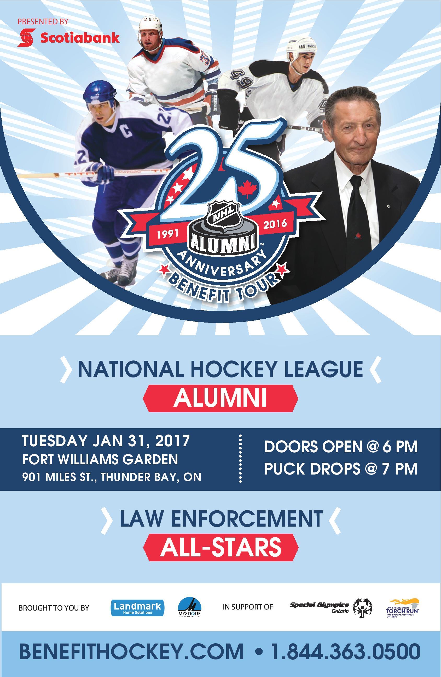 NHL Alumni Hockey Game Thunder Bay