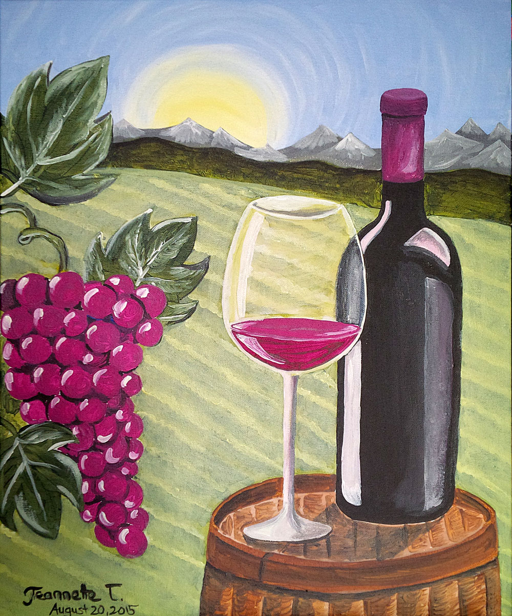 paint nite wine country at bight