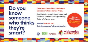 TBay Selected as a Competition Location for Inaugural Lieutenant Governor's Visionaries Prize