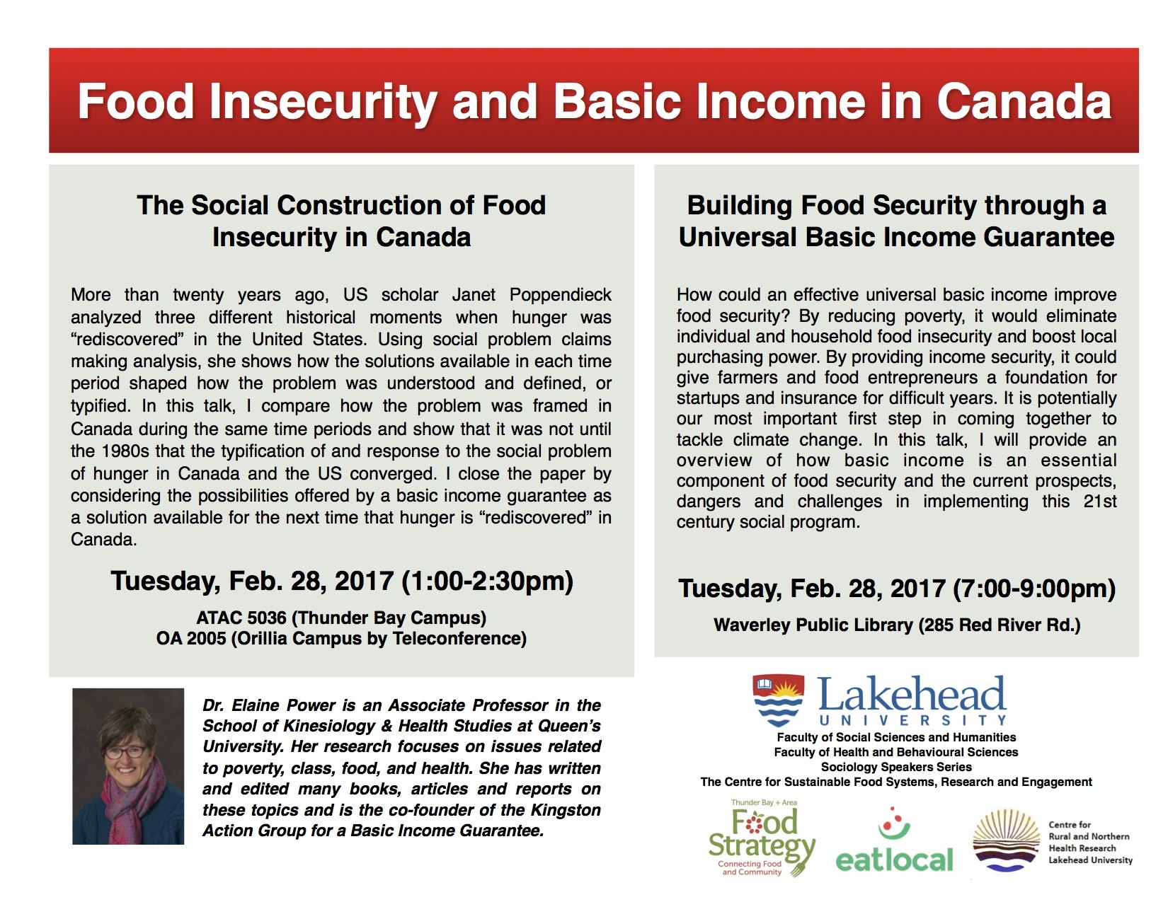 Public Talks: Food Insecurity & Basic Income | The Walleye