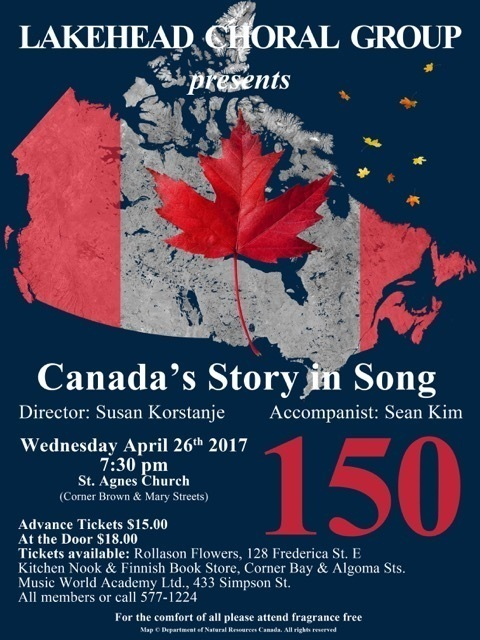 Map Of Canada Song.The Lakehead Choral Group Canada S Story In Song The Walleye