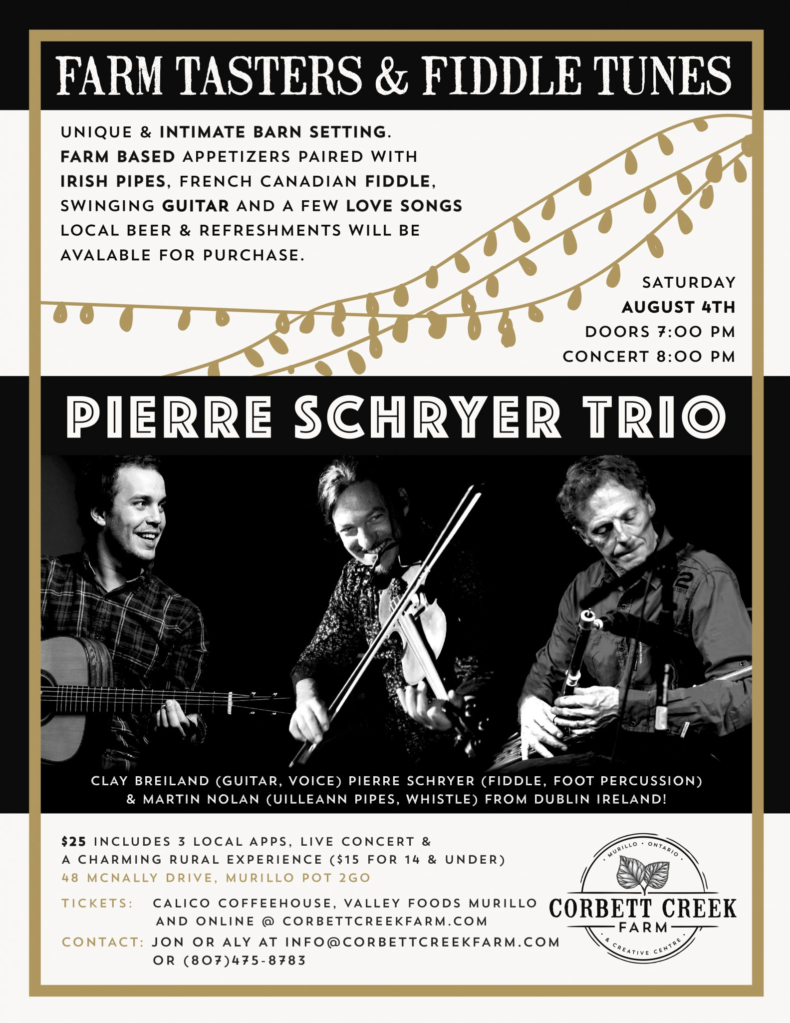 Farm Tasters & Fiddle Tunes with PIERRE SCHRYER TRIO | The