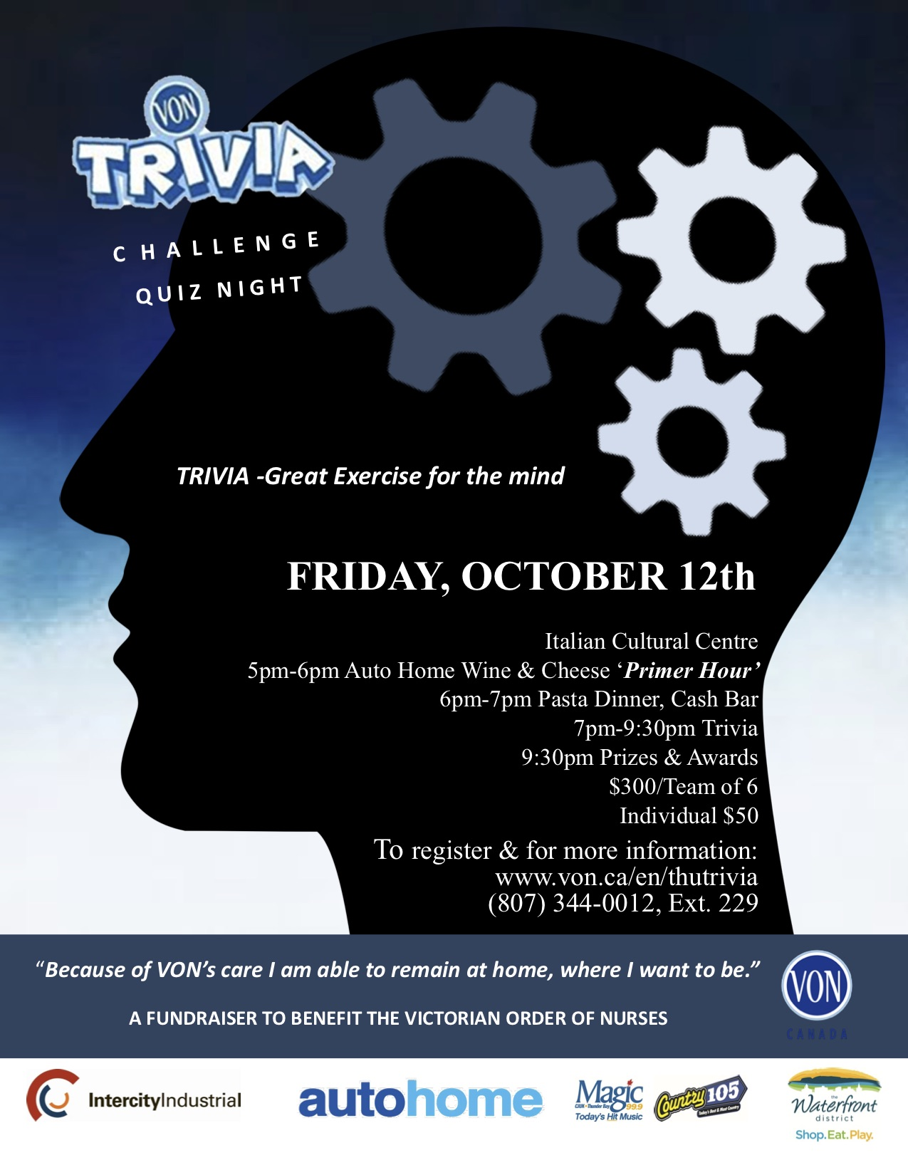 Von Trivia Challenge Quiz Night The Walleye