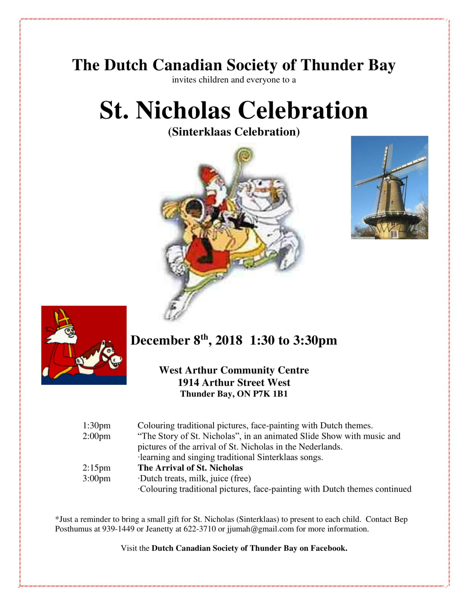 Dutch Canadian St  Nicholas (Sinterklaas) Celebration   The Walleye