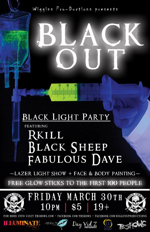 BLACKOUT Black Light Dance Party